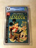 Mickey Mouse Almanac #1 CGC 8.0 VF walt disney 1957 BARKS Dell Giant SCROOGE