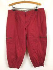 """Izod Woman Size 18W Capris Pants Casual Cargo Pkts 100% Cotton 38"""" Waist x 21.5L"""