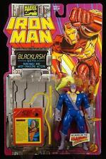 "1994 TOY BIZ MARVEL COMICS IRON MAN NUNCHAKU ACTION BLACKLASH 5"" FIGURE MOC"