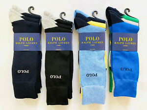 3-Pack Polo Ralph Lauren Men's Supersoft Trouser Dress Sock Size 10-13