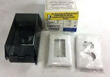 Arlington DBPV1C Clear Dri-Box Adapters w/ Non-Metal Cover w/ (2) Wallplate NEW