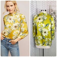 Anthropologie Second Female Size Small Magnolia Floral Viscose High Neck Blouse