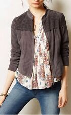 """""""Laser Cut Gray Suede"""" Jacket by Elevenses--8P"""