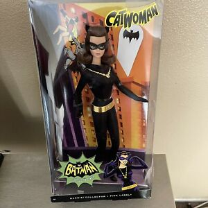 """Barbie Collector Pink Label """"CATWOMAN"""" from Batman Classic TV Series 12"""" Doll"""