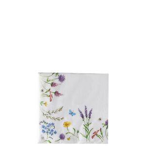 40 Stück HUTSCHENREUTHER Nora Spring Vibes Papierservietten 33 x 33 cm