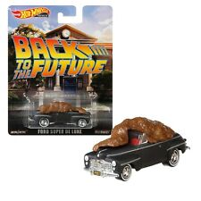 HOT WHEELS PREMIUM FYP61 FORD SUPER DE LUXE BLACK TO THE FUTURE REAL RIDERS