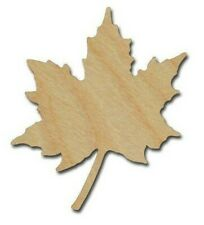 Maple Leaf Unfinished Wood Craft Cutout DIY Crafts Variety Of Sizes Made In USA