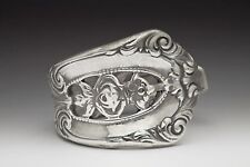 SILVER SPOON EMPIRE SPOON RING SILVERWARE PATTERN FLORAL SILVER PLATED
