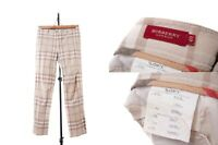 Women's Burberry London Pants Trousers Nova Check Plaid Pant Tan 40