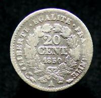 20 CENTIMES 1850 A - FRANCE - Cérès [Argent / Silver]