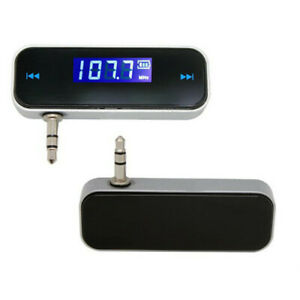 Wireless 3.5mm FM Transmitter w/ LCD For MP3 MP4 IPOD iPhone Hands Free