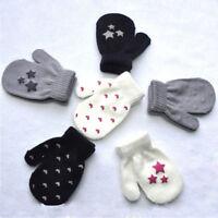 Kids Magic Gloves Pair Winter Warm Boys Girls Stretch Black Soft Children Unisex