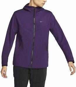 Men's Nike Sportswear Tech Pack Hooded Full Zip Purple Jacket(BV4489-525)SZ  XL