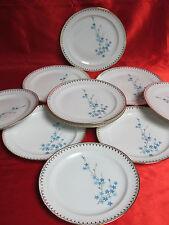 10 assiettes à dessert porcelaine LIMOGES CHADELAUD VERONICA myosotis
