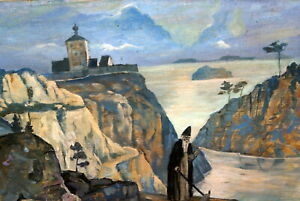 Russian Symbolism OIl Painting Sign  N. Roerich, 1917