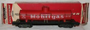 1957 American Flyer 958 Mobilgas Tank Car in 24315 Stamped Box