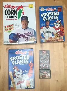 Vintage Baseball Cereal Box Card Lot Ken Griffey Jr Nolan Ryan Mariners Rangers
