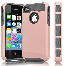 Hybrid Rugged Rubber ShockProof Matte Hard Case Cover For Apple iPhone 4 4S 4G
