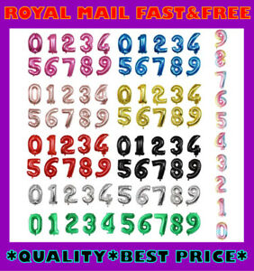 """30"""" Giant 0-9 Number Foil Balloons Air Helium Birthday Party Balloon Age Wedding"""