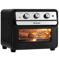 23 QT Air Fryer Oven 6-in-1 Toaster Oven Dehydrator Rotisserie w/ 9 Accessories