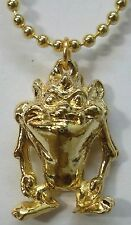 """Looney Tunes Tazmanian Devil Jewelry 18"""" Neck, Gold Plated, Great Gift, USA, NEW"""