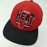 Miami Heat Basketball Ball Cap Hat Snapback Baseball Adult Mitchell & Ness