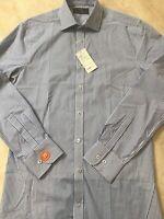 """MARKS & SPENCER Mens Shirt BNWT 14.5"""" Collar Blue White Long Sleeve £17.50"""