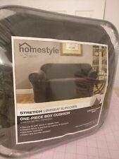 Surefit Loveseat Slipcover Homestyle Espresso Metro Sofa Cover Stretch Fit