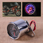 Universal Motorcycle Dual Odometer Speedometer Gauge LED Backlight Signal Light