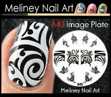 A43 Stamping Nail Art Image Plate Design Round XL Stencil metal Halloween