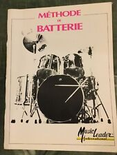 Méthode de batterie partition éditions Music leader