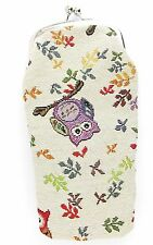 Owl Tapestry Reading Glasses Soft Pouch/Case - Signare