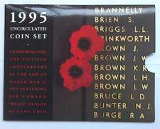 1995 AUST UNC 6  COIN SET THEME: END OF WW11