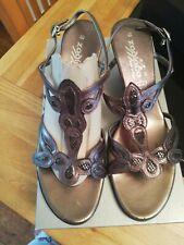 Zodiaco ladies pewter strappy Italian sandals size 40
