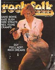 REVUE : Rock & Folk # 189 kate bush dire straits david bowie cramps neil young