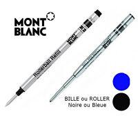 Recharge Mont Blanc BILLE ou ROLLER M / Noire ou Bleue -Envoi de Fr le jour même