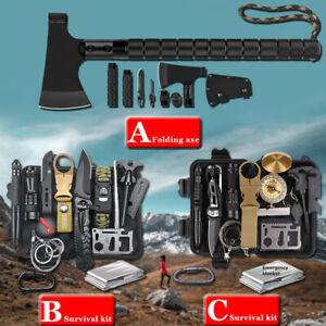Außen Notfall Survival Kit Tomahawk Axt Militär Beil Überlebensset Camping Tools