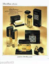 PUBLICITE ADVERTISING 116  1978  les parfums Revillon Detchema