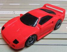 para H0 coche slot racing Maqueta de tren FERRARI F 40 con TYCO U-Turn MOTOR