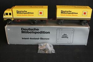 "Conrad Mercedes-Benz truck with trailer ""Möbelspedition"" 1:50 #301601 (J&KvW)"