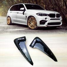 M Type Marker Gloss Black Side Fender Air Wing Vent Trim BMW F15 X5
