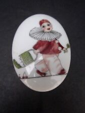 Hummelwerk Porcelain Trinket/Jewelry Box Harlequin Girl Bavaria.1950 JOSEF KUBA