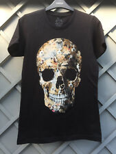"ANIMAL SKULL T SHIRT BLACK WITH CATS & DOGS SIZE 32"" CHEST"