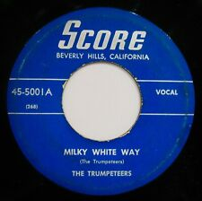 THE TRUMPETEERS~Milky White Way ✦ Rare Blues Gospel 45~SCORE #45-5001
