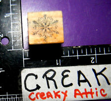 DETAILED SNOWFLAKE TINY RUBBER STAMP A COUNTRY WELCOME
