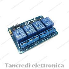 Scheda 4 Relè 12 Vdc con scambio da 10A per Arduino Raspberry Pi ARM PIC AVR DSP