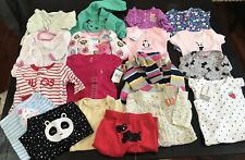 Lot of 18 Baby Girl Clothes - 3 Months Tops Shirts Pants One Piece Outfits Cute