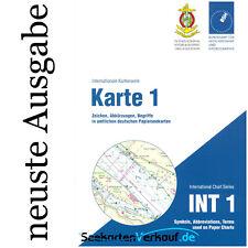 Karte 1 - Zeichen in deut. Seekarten, INT 1 # BSH Nr. 1 NEU & AKTUELLE AUSGABE