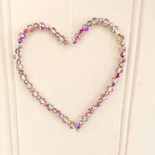VETRO cristallo fatti a mano cuore da appendere per la casa o giardino 3.5 X3.5 pollici