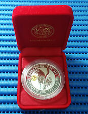 1995 Australia $1 Kookaburra 1oz 999 Silver Coin with Gold Panda Privy Mark